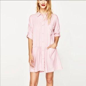 Pink Zara shirt dress - worn once